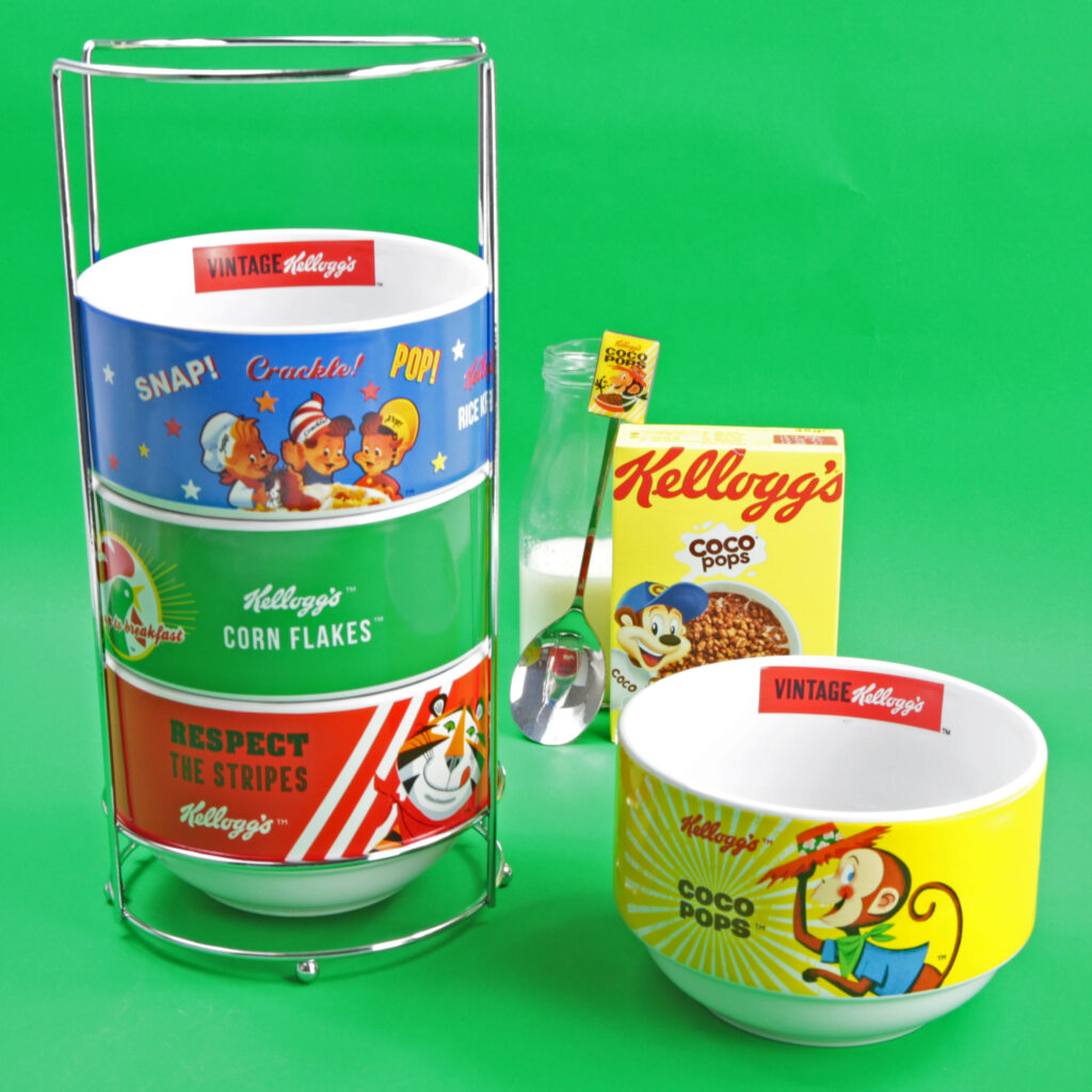 4 Stacked Cereal Bowl Set from Kelloggs