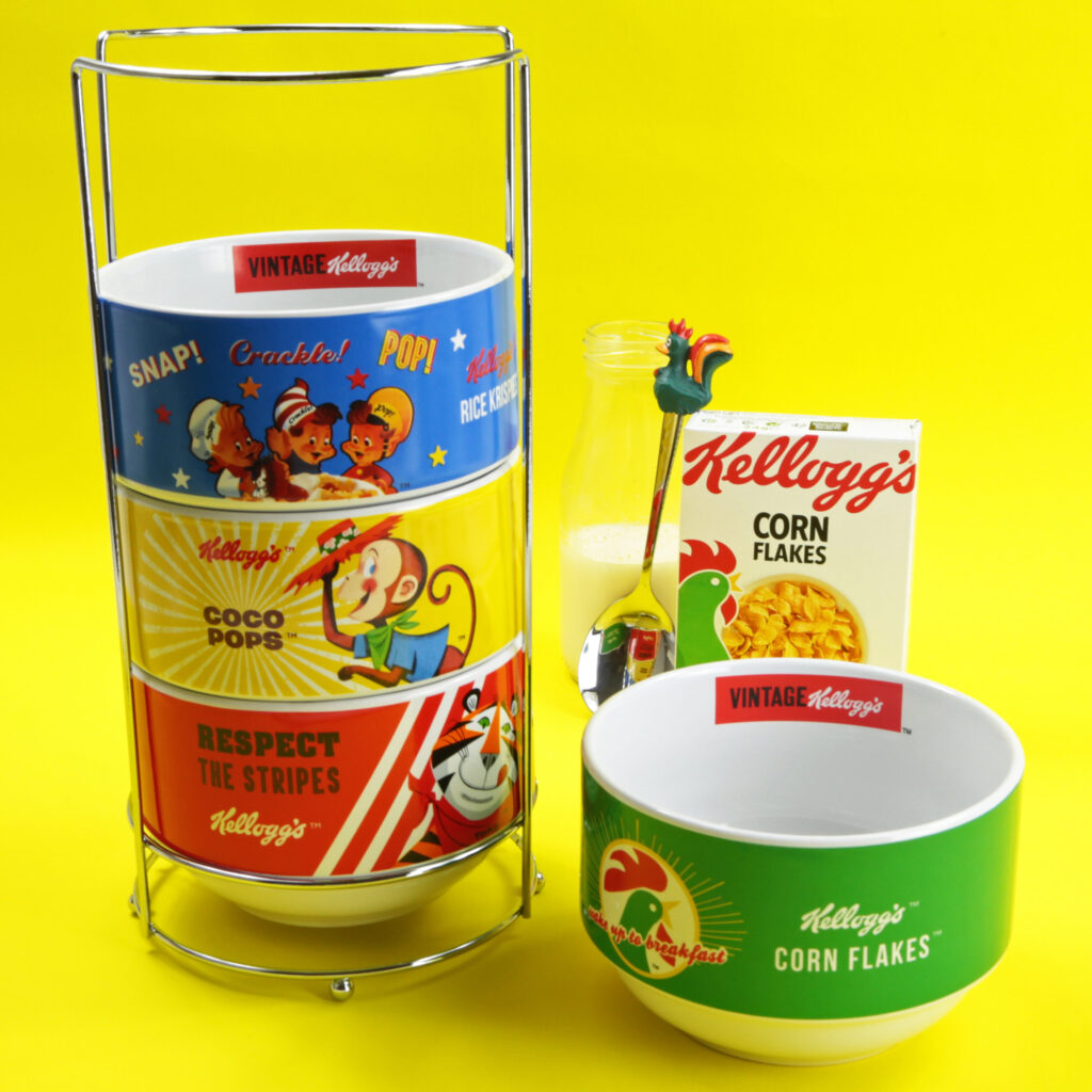 4 Stacked Breakfast Bowl Set from Kelloggs