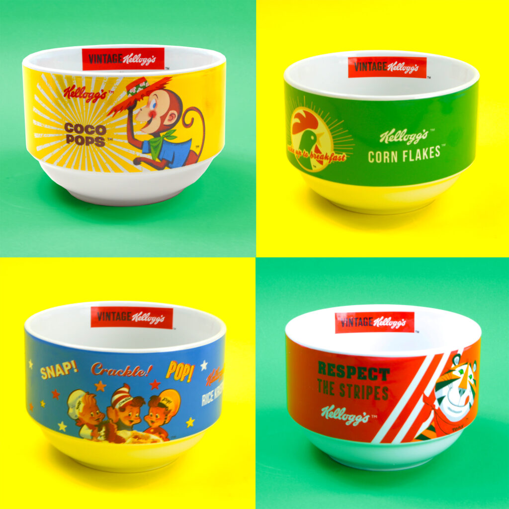 Kelloggs 4 Stcked Cereal Bow Set
